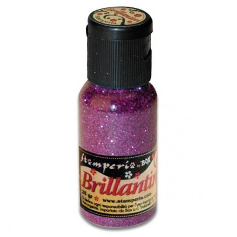 Glitter 20g, purple, coarse grained