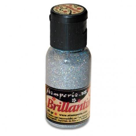 Glitter 20g, iridescent silver