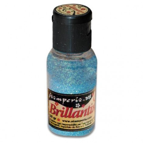 Glitter 20g, light blue