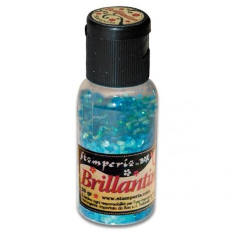 Glitter 20g, sea blue coarse grained