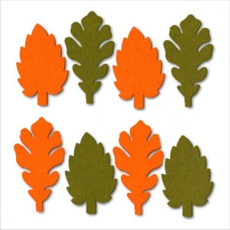 Filc levelek - narancs-zöld