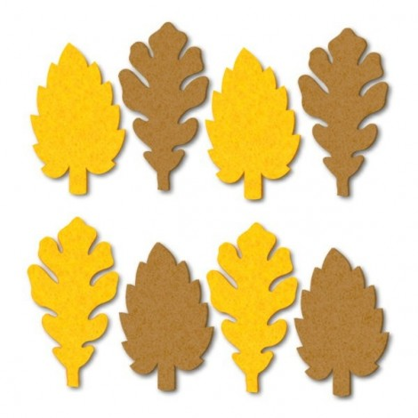 Filc levelek - sárga-barna