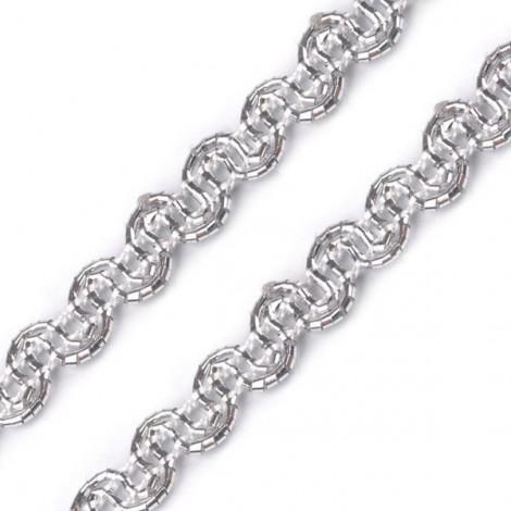 Paszomány, ezüst, 5 mm
