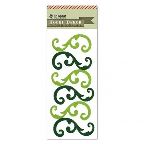 Filc inda - zöld