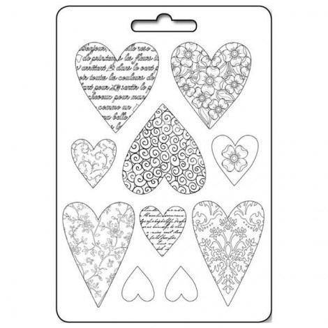 Soft PVC mould - A4 - Hearts