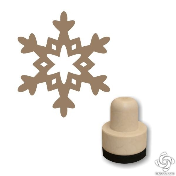 Foam stamp - Snowflake 01