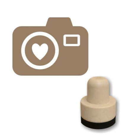 Foam stamp - Heart camera