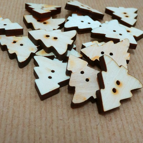 Wooden button - Pine