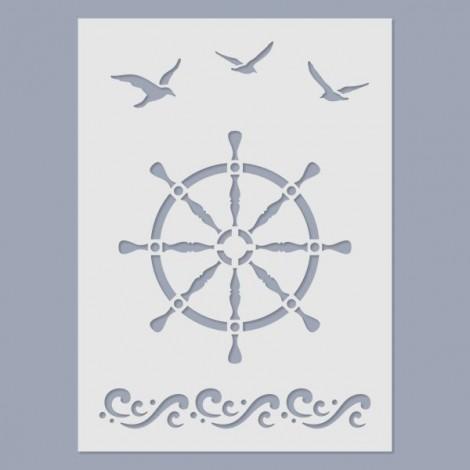 Stencil - Ship's wheel