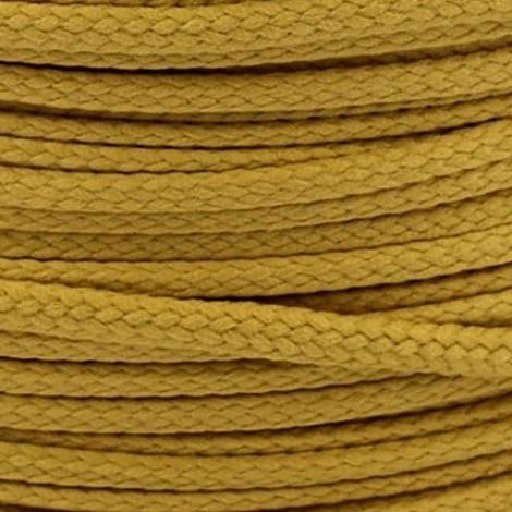 Polyester cord  - mustard, Ø4mm