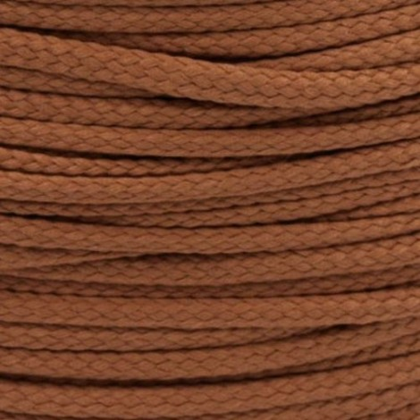 Polyester cord  - brown, Ø4mm