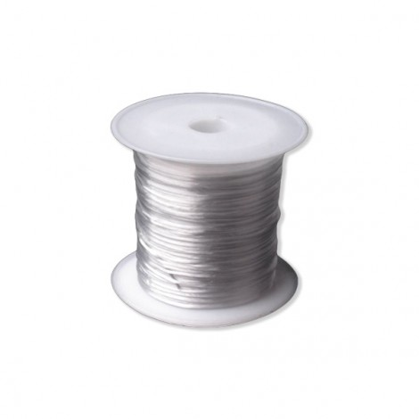 Flat Elastic Bead Jewelry Cord, 1 mm