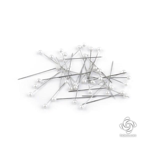 Pearl head sewing pins, 38 pmm