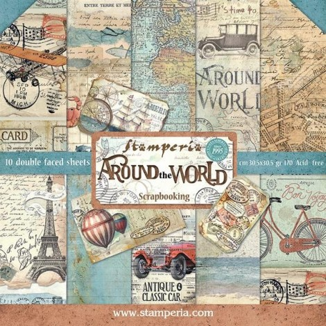 Scrapbook papír tömb - Around the World