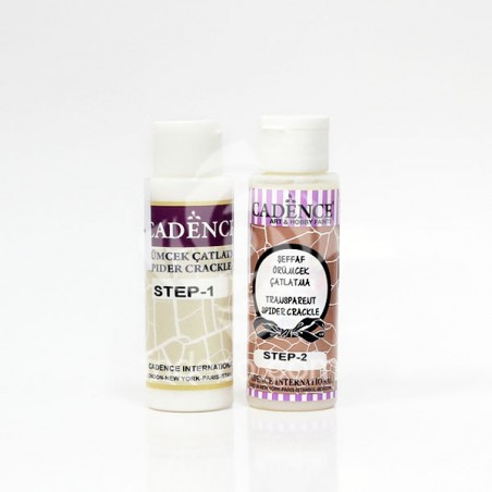 Transparent Spider Crackle - Two component - 2 x 70 ml