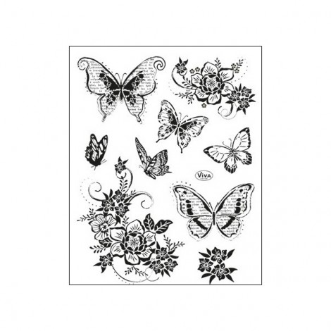Clean Stamp Collection - Butterflies