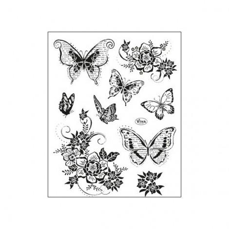 Szilikon pecsételő szett - Pillangók