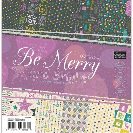 Couture Creations - Be Merry and Bright Paper Pad