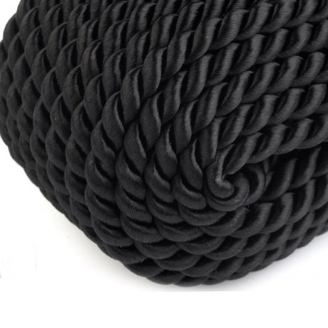 Satin twisted cord  - black, Ø4mm