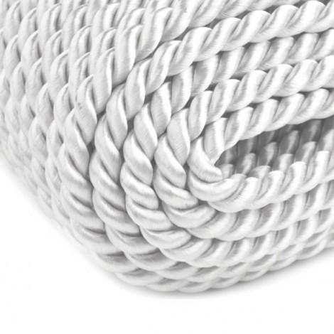 Satin twisted cord  - white, Ø4mm