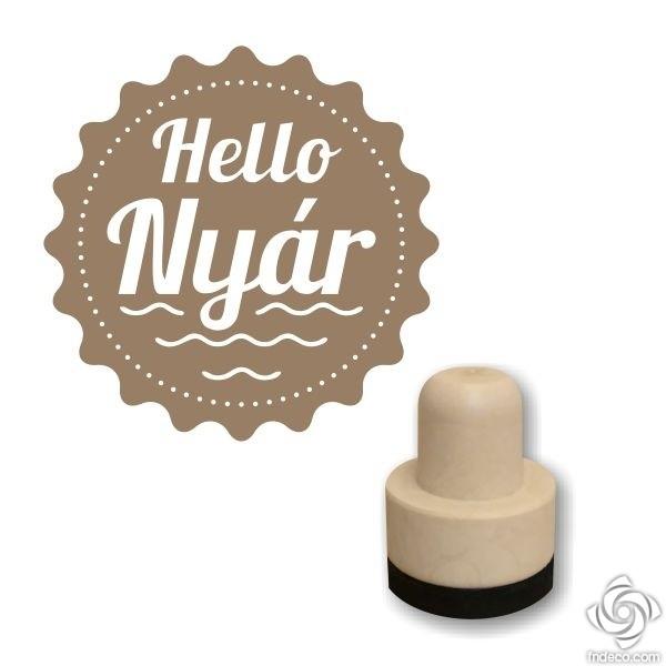 Foam stamp - Hello Nyár