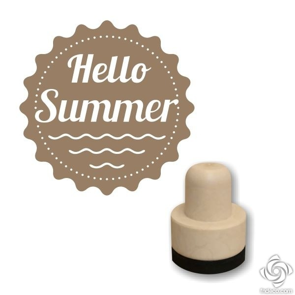 Foam stamp - Hello Summer