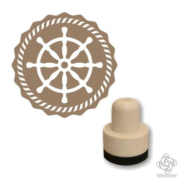 Foam stamp - Ship's wheel