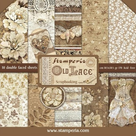 Scrapbook papír tömb - Old Lace Collection