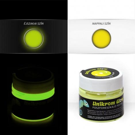 UnikromGlow akrilfesték - citrom (30g)