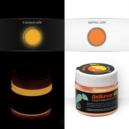 UnikromGlow acrylic paint - orange (30g)