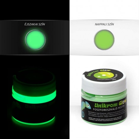 UnikromGlow acrylic paint - lime (30g)