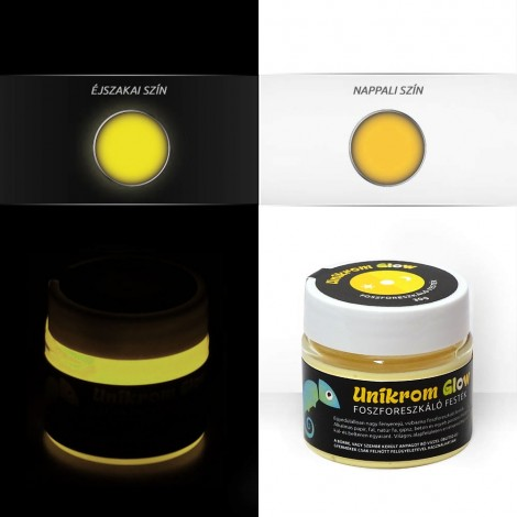 UnikromGlow acrylic paint - sun yellow (30g)