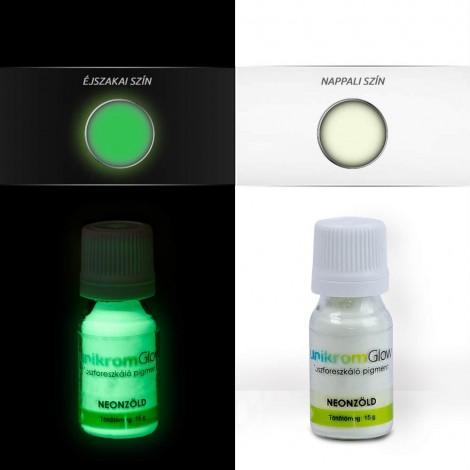UnikromGlow foszforeszkáló festékpigment - neonzöld (15g)