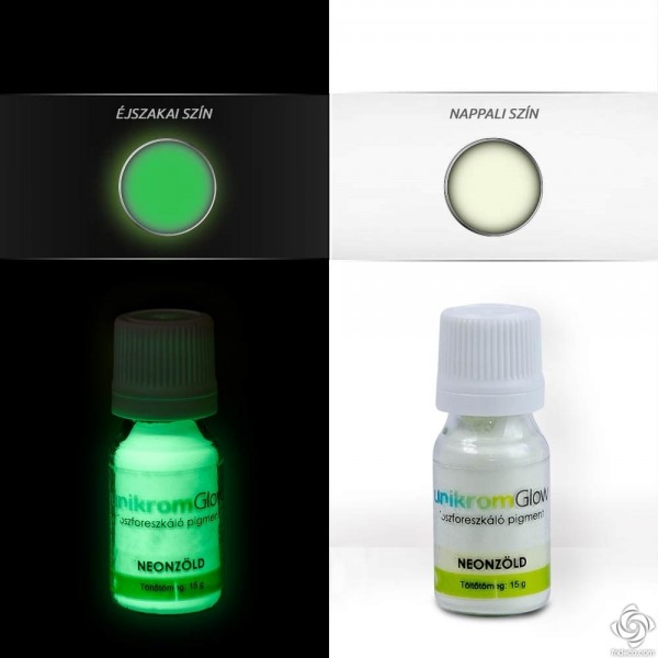 UnikromGlow Decor Paint Pigment Powder - neon-green (15g)
