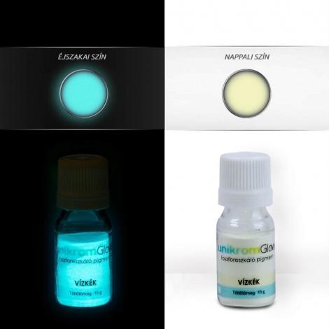 UnikromGlow foszforeszkáló festékpigment - vízkék (15g)