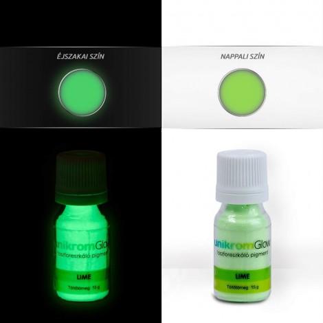 UnikromGlow foszforeszkáló festékpigment - lime (15g)