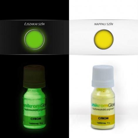 UnikromGlow foszforeszkáló festékpigment - citrom (15g)