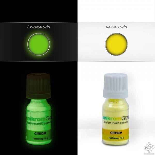 UnikromGlow Decor Paint Pigment Powder - lemon (15g)