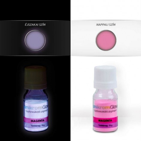 UnikromGlow foszforeszkáló festékpigment - magenta (15g)