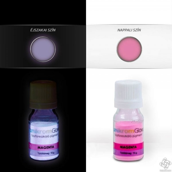 UnikromGlow Decor Paint Pigment Powder - magenta (15g)