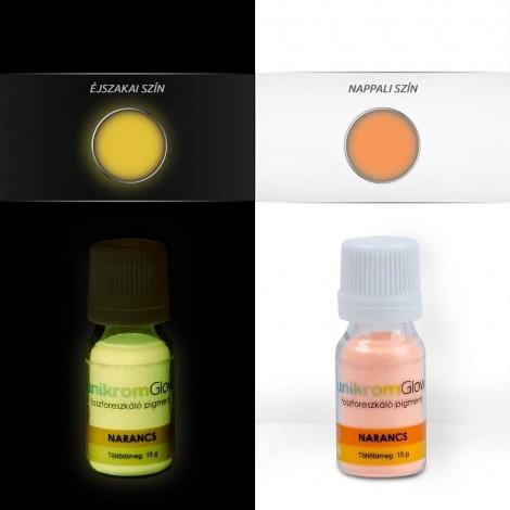 UnikromGlow foszforeszkáló festékpigment - narancs (15g)