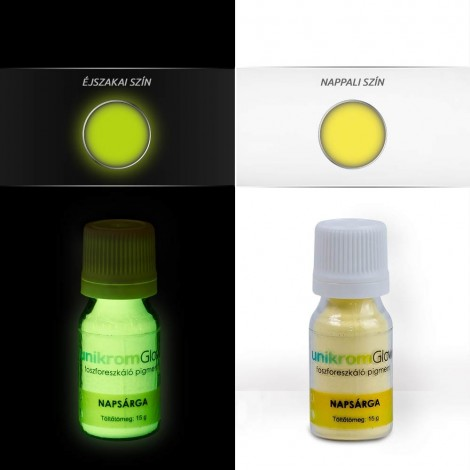 UnikromGlow foszforeszkáló festékpigment - napsárga (15g)