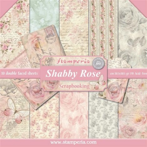 Scrapbook papír tömb - Shabby Rose Collection