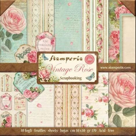 Scrapbook papír tömb - Vintage Rose