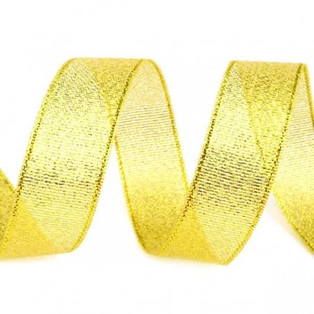 Metallic ribbon, gold
