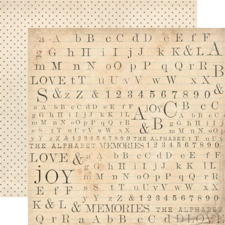 Scrapbooking Paper Pack - The Alphabet Collection