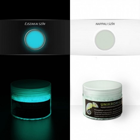 UnikromGlow Glow in the Dark Crushed Glass - aqua-blue (180g)