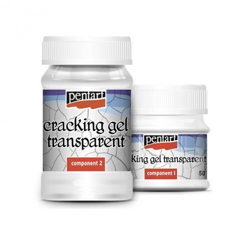 Transparent cracking gel set, 50+100 ml