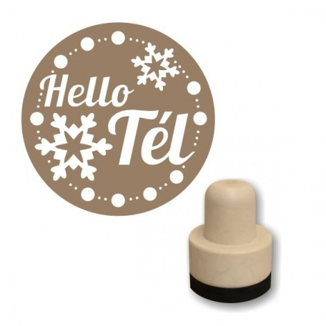 Foam stamp - Hello tél