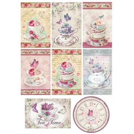 Rizspapir - A4 - Deco Tags Tea Time - DFSA4078